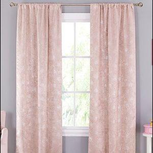 Lala & Bash Pink Metallic Set of 2 Curtains NWOT